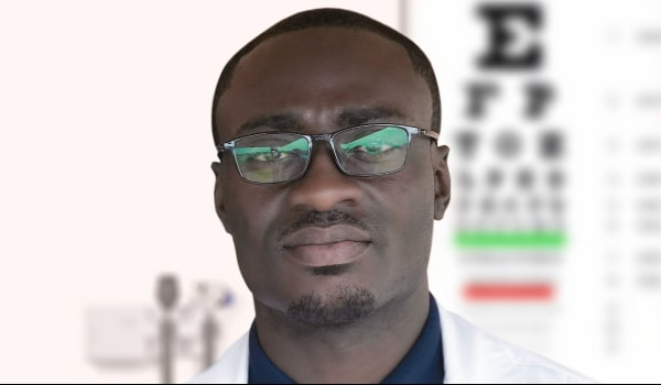Optometrist with glasses